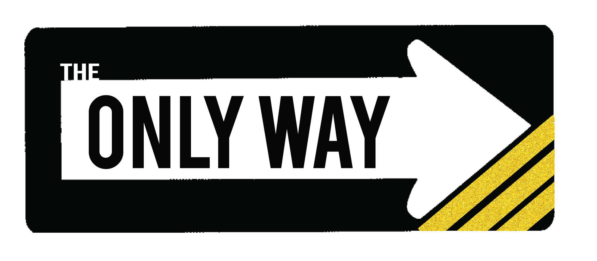 The only way logo